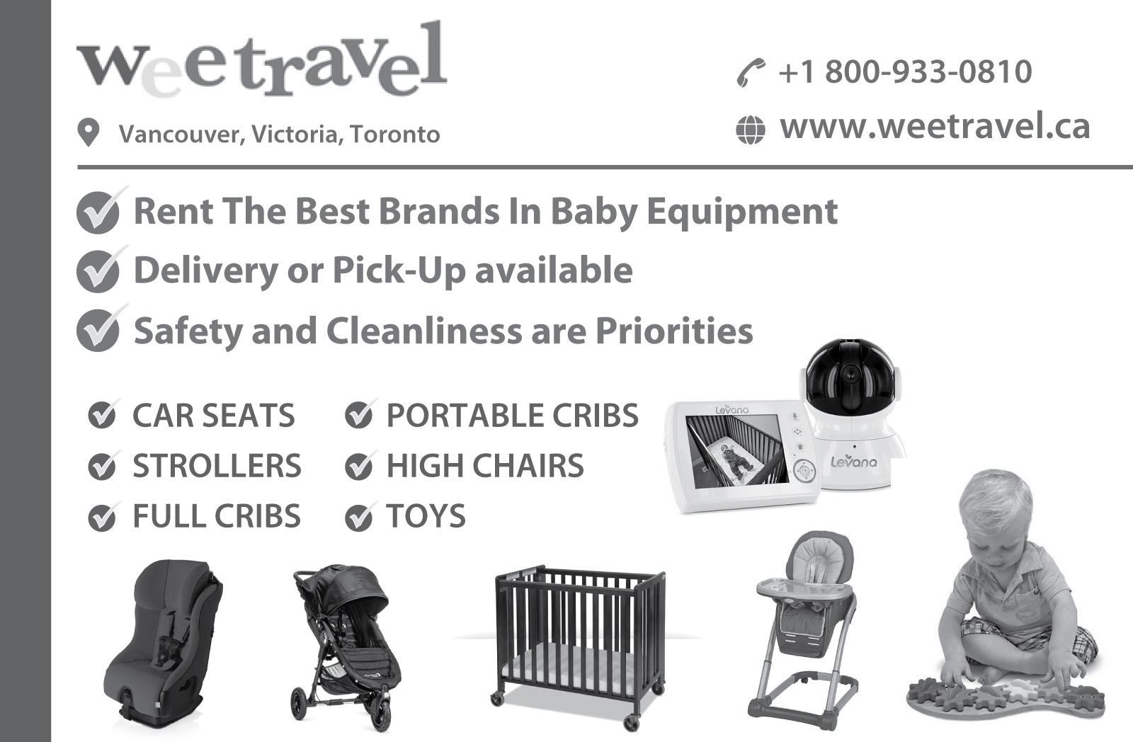 Wee Travel Baby Equipment Rentals